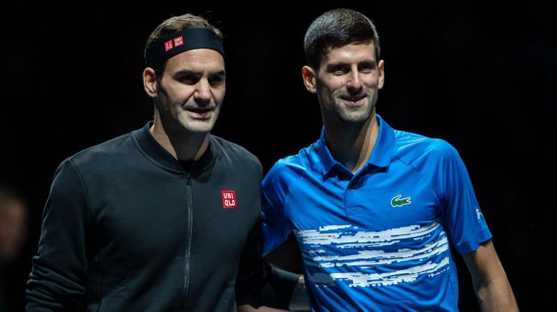 Rodžers Federers un Novaks Džokovičs. Foto: imago/Scanpix