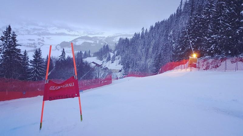 Kvitfjellas trase 8. marta rītā. Foto: FIS Alpine.