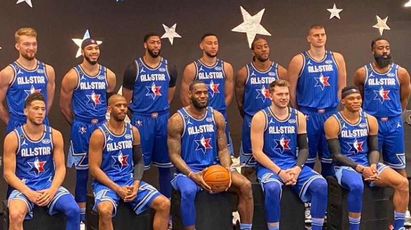 NBA zvaigžņu spēles dalībnieki. Foto: NBA