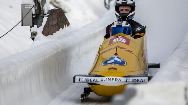 Frančesko Frīdrihs turpina dominēt bobslejā. Foto: Imago Images/Scanpix