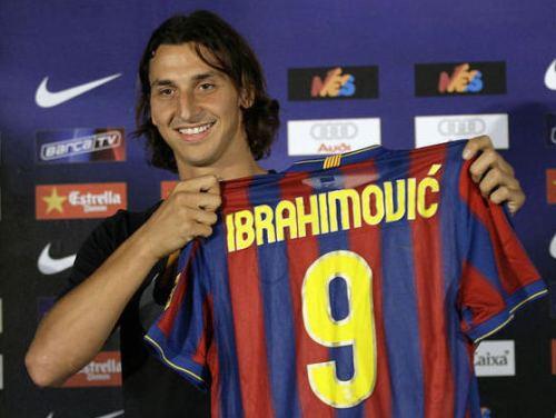 "Ibrahimovičs oficiāli pievienojas ""Barcelona"""