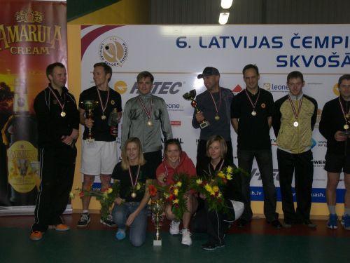 Latvijas skvoša čempionu noskaidrošana tuvojas