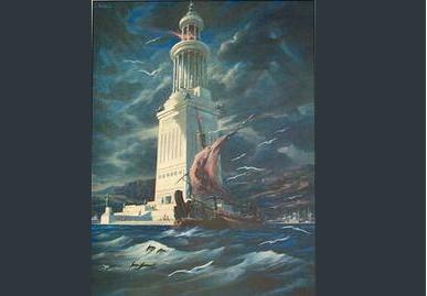 Farosas Aleksandrijas bāka - viens no 7 pasaules brīnumiem