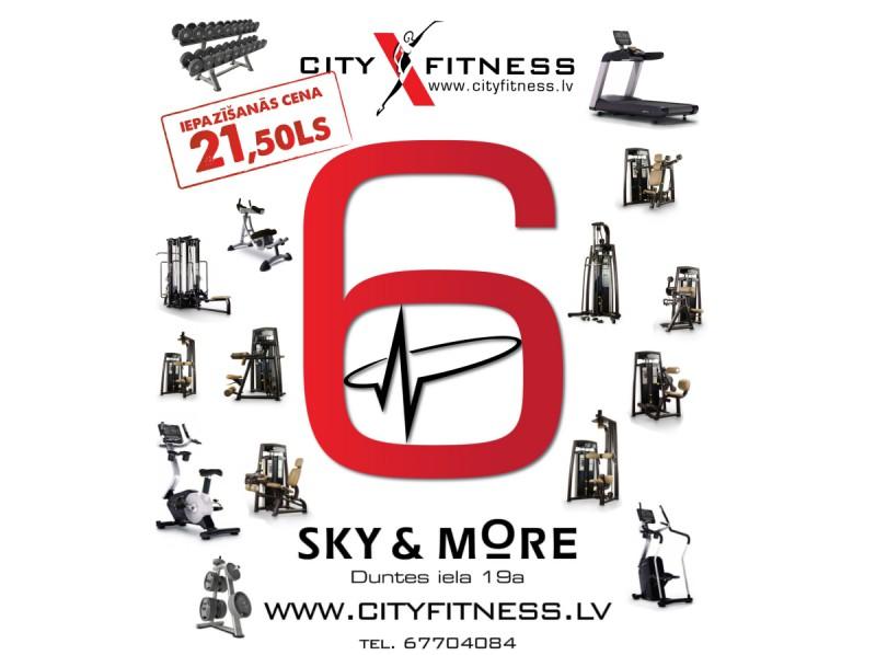 Mērķus sasniedz ar  jaunākās paaudzes tehnoloģiju palīdzību jaunajā City Fitness Sky&More!
