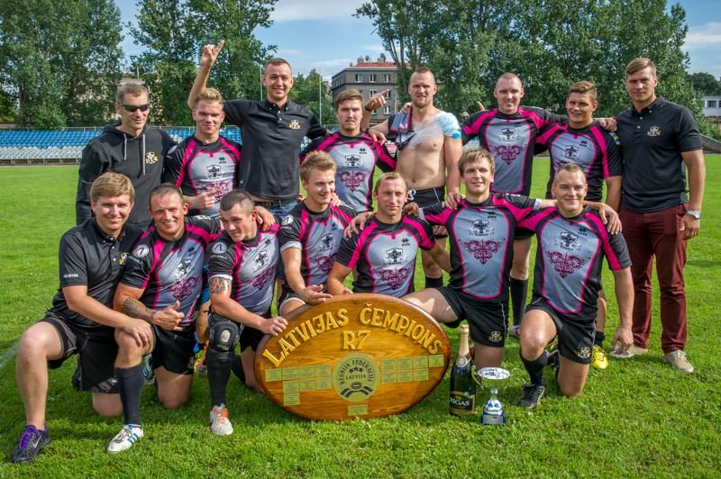 ''Huracan/Livonia'' - 2014. gada Latvijas čempioni regbijā 7