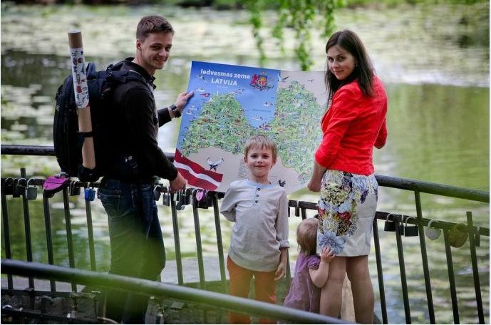 Bilžu karte, kas ļauj iepazīt Latvijas skaistumu un daudzveidību
