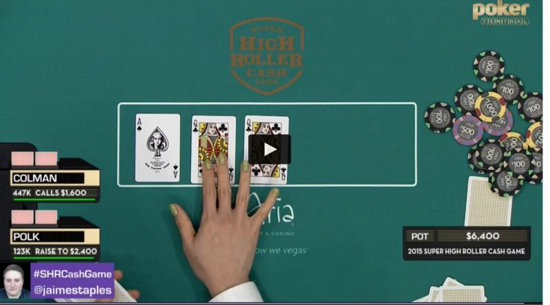 TV tiešraidē izspēlē tiek izliktas divas vienādas kārtis - QcQc