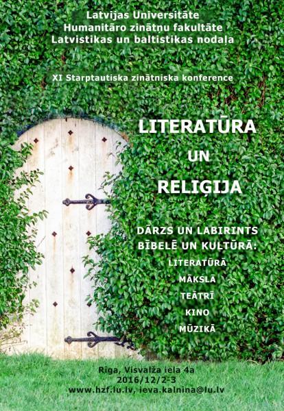 """Ikgadējā konference """"Literatūra un reliģija"""" 2. – 3. decembrī"""