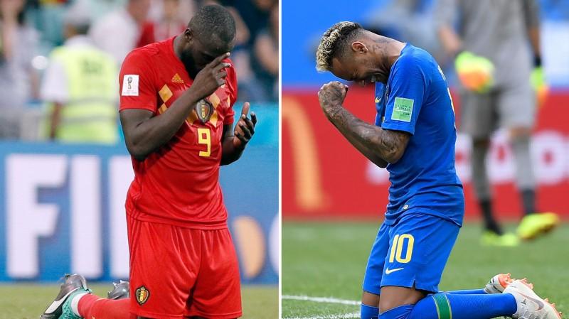 Klāt ceturtdaļfināli: Francija pret Urugvaju un Brazīlija pret Beļģiju