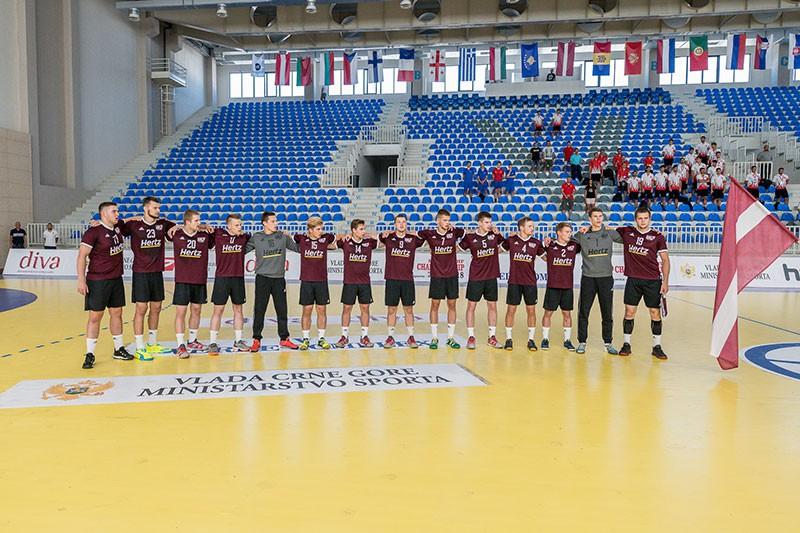 Pusfinālu jau nodrošinājusī Latvijas U-20 handbola izlase aizvadīs pārcelto spēli pret Gruziju