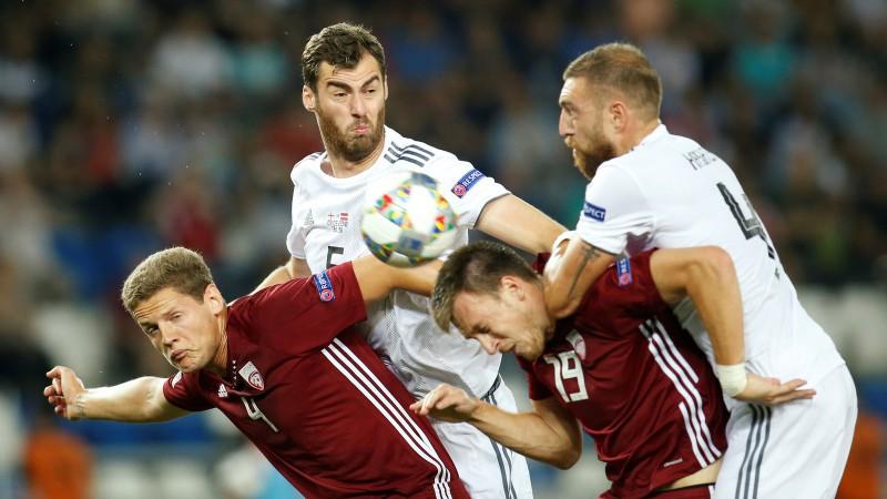 Tiešraide: Gruzija - Latvija 1:0 (spēle galā)