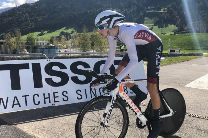 Krasts debijas reizē finišē 63. vietā pasaules junioru čempionāta grupas braucienā