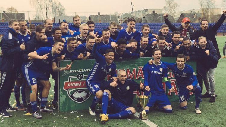 """""""Daugavpils/Progress"""" triumfē pirmajā līgā un iegūst Virslīgas ceļazīmi"""