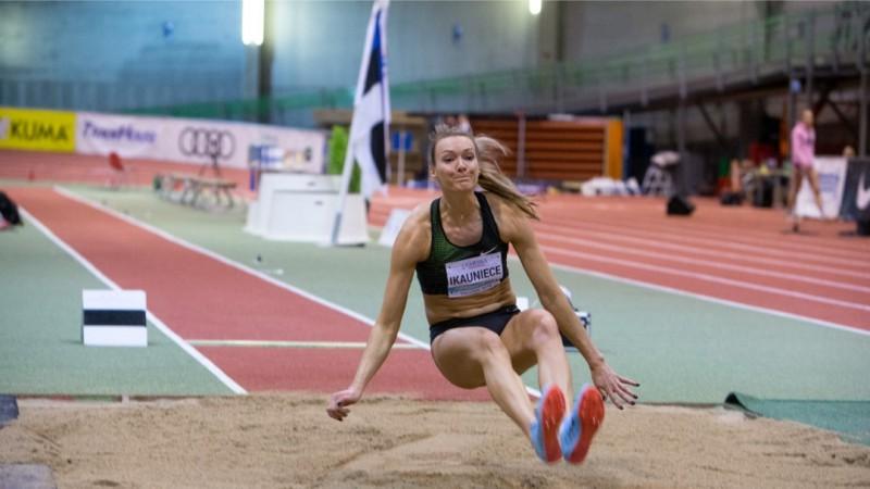 Ikauniece daudzcīņā atgriežas ar uzvaru sacensībās Tallinā