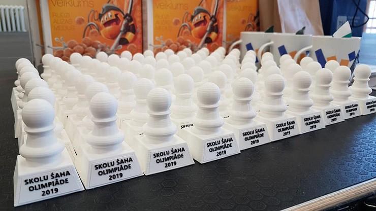 Latvijas Skolu šaha olimpiādes Vidzemes finālā 12 medaļas izcīna olainieši