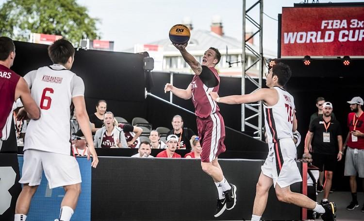 """Latvijas 3x3 basketbolisti droši sasniedz """"Challenger"""" turnīra ceturtdaļfinālu"""