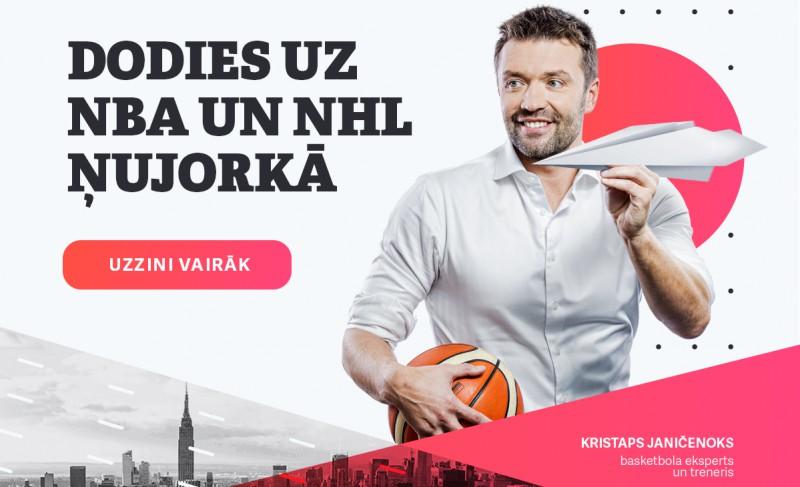 """Piedalies akcijā """"Basketbols ir foršs"""" un brauc uz NBA un NHL spēli"""