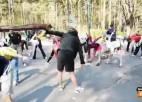Video: Atmuguriskais treniņš Mežaparkā