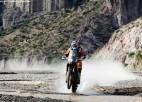 Cīnoties par uzvaru Dakarā, motosportists Praiss jau 30. reizi lauzis kaulus