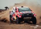 Dakaras rallija prologa ātrumposmā ātrākie Al-Atija un Baragvanats