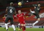 Ziemeļrietumu derbijā vārti netiek gūti, ''Manchester United'' joprojām līdere