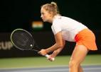 Vismane zaudē pirmoreiz ITF ceturtdaļfinālā spēlējušai ungārietei