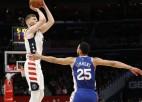 Bertāns un ''Wizards'' atgriežas ''play-off'' ar dueli pret Austrumu uzvarētāju ''76ers''