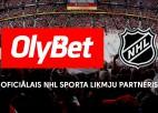 OlyBet kļūst par oficiālo NHL sporta likmju partneri Baltijas valstīs