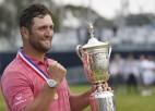 """Spānijas golferis Rams divas nedēļas pēc inficēšanās ar koronavīrusu uzvar """"US Open"""""""