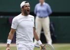 """Berretīni ar varenu servēšanu pirmoreiz ietraucas """"Grand Slam"""" finālā"""