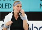 Kvitova pirms došanās uz olimpiādi Prāgā zaudē trešā simta spēlētājai