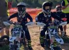Latvijas Junioru motokrosa čempionātā Jaunpilī dubultuzvara dvīņubrāļiem Cīruļiem