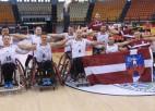 Lietuvieša vadītā Latvijas ratiņbasketbola izlase pirmoreiz izcīna medaļas Eiropas B divīzijā