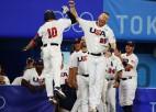 ASV beisbolisti sagrauj Dienvidkoreju, nodrošinot lielo finālu pret Japānu