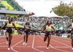Tompsone-Hēra uzrāda vēsturē otro ātrāko laiku 100 metros