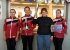 """Nezaudējot ne spēli """"Riga open I"""" titulu izcīna olimpiskā sieviešu kērlinga izlase"""