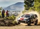 Latvijas eksčempions Rovanpere uzvar WRC posmā Grieķijā