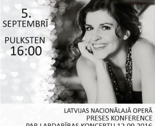 """Operdziedātāja Maija Kovaļevska ielūdz uz labdarības koncertu  """"Sirds veltījums"""""""