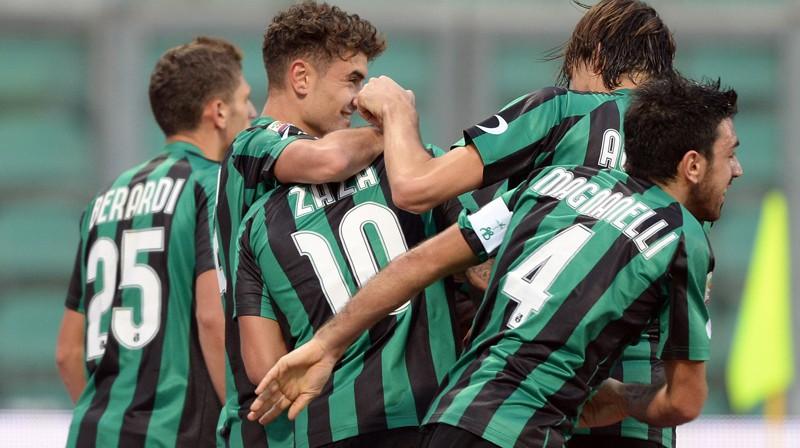 """""""U.S. Sassuolo Calcio"""" komanda spēlē azartiskāko futbolu Itālijas A sērijā."""