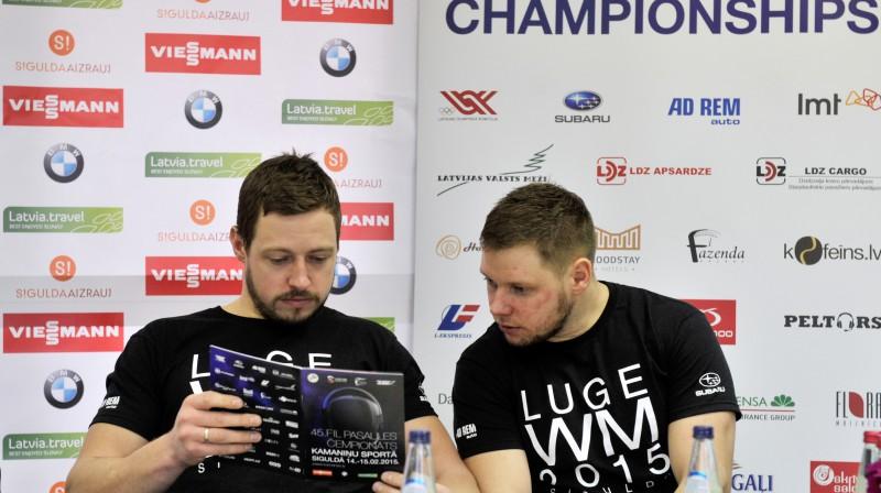 Andris Šics un Juris Šics Foto: Romāns Kokšarovs, Sporta Avīze, F64