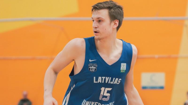 Anrijs Miška. Foto: LU basketbols