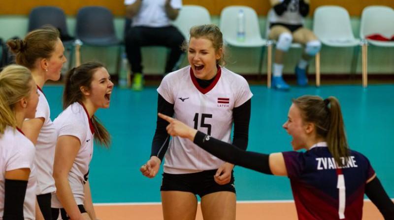 Latvijas sieviešu volejbola izlase. Foto: LVF
