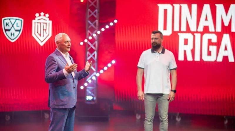 Juris Savickis (pa kreisi). Foto: dinamoriga.lv