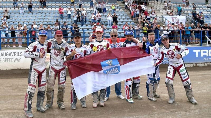 """""""Optibet Lokomotīve"""" pēc uzvaras pār Poznaņas komandu."""