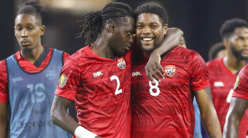 Trinidadas un Tobāgo izlases futbolisti. Foto: Kevin Jairaj/USA Today Sports/Scanpix