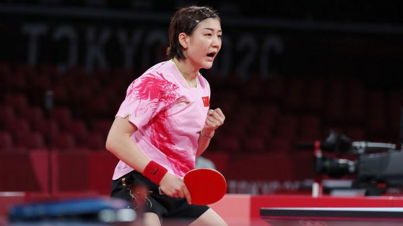 Ķīnas galda tenisiste Mena Čana. Foto: EPA/Scanpix