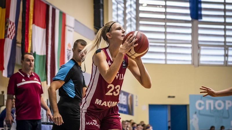 Līna Loceniece 2021. gada jūlijā Sofijā. Foto: FIBA