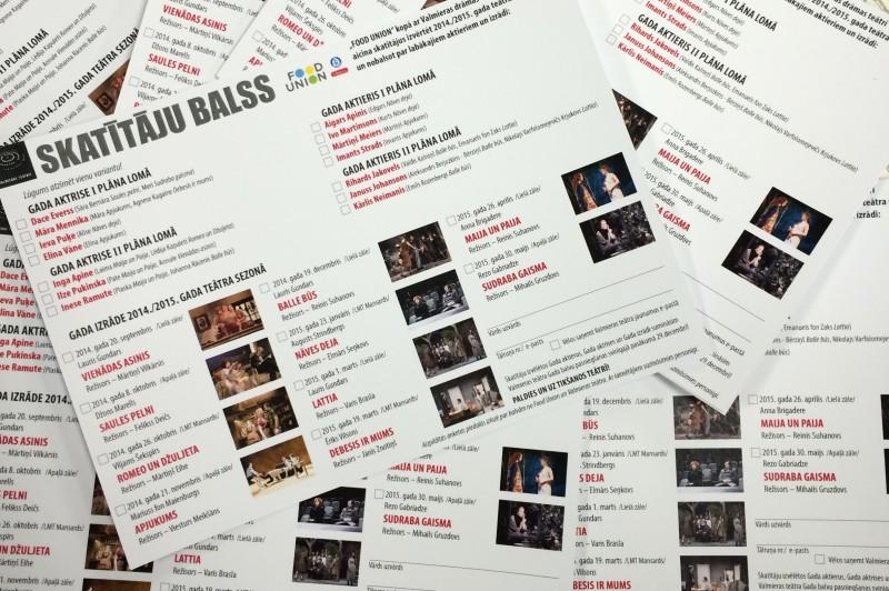Valmieras teātra skatītāji izvēlējušies Gada aktierus un izrādi