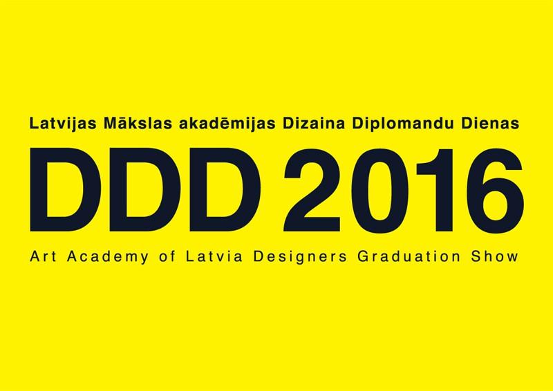 """""""Dizaina diplomandu dienas 2016"""" Latvijas Mākslas akadēmijā"""