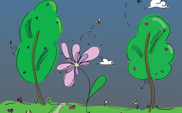 """Aicina uz bērnu dzejas pasākumu """"Zu-zum! Skan puķīte"""""""